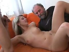 Youthfull dame gets wicked and luvs fuck-a-thon with old fucker