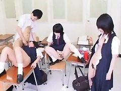 Mesmerized Chinese College girls Get Cum!