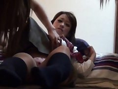 Asian teens raw the couch