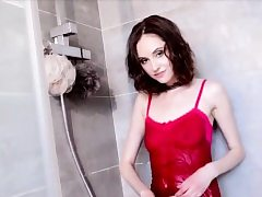 Lady Play With Herself in Bathroom