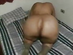 Granny uses her Hefty Ass to bust a men nut