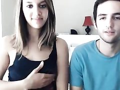 Cool camwhore and her boyfriend fucks on web cam